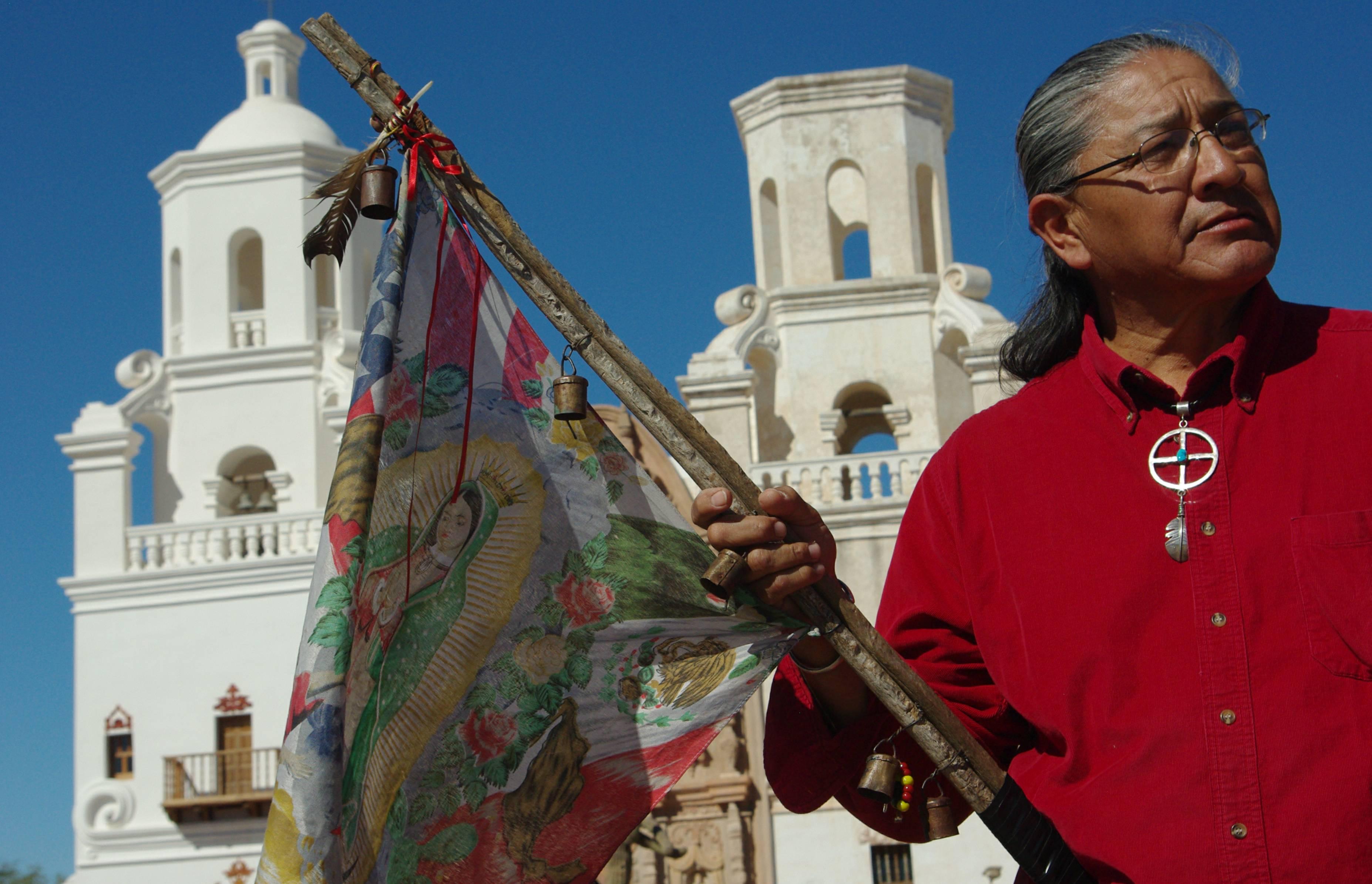 Photos, Bios, Mike Wilson @ San Xavier, Mission - Dia de los Muertos Pilgrimage, by Hyatt 10-31-09
